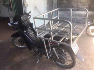 Cách buộc dây chở hàng bằng xe máy