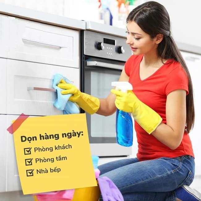 Dọn dẹp nhà cửa theo tháng